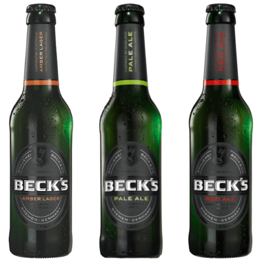 Becks Amber Lager, Pale Ale und Red Ale