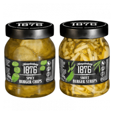 Hengstenberg 1876 Spicy Burger Chips & Sweet Burger Strips