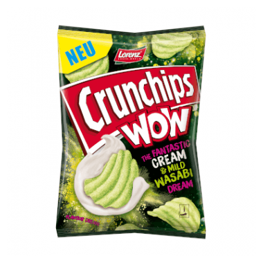 Crunchips WOW Crunchips WOW Cream & Mild Wasabi
