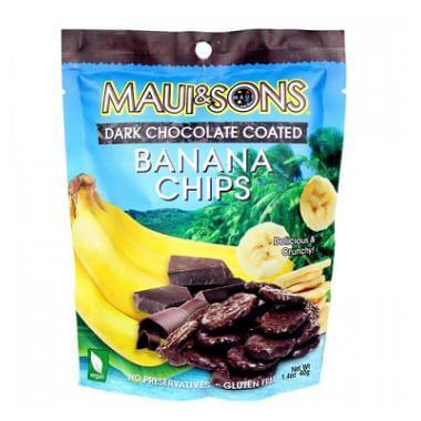 Maui and Sons Dark Chocolate Coated Banana Chips