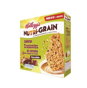 Kellogg's Nutri-Grain Galleta Crujiente de Chocolate