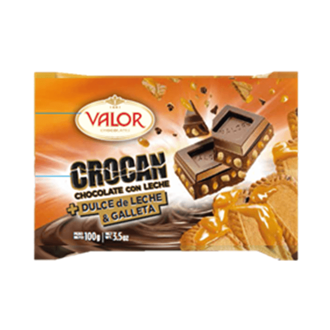 VALOR Crocan Chocolate con leche + Dulce de leche & galleta