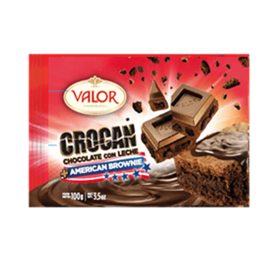 VALOR Crocan Chocolate con Leche + American Brownie