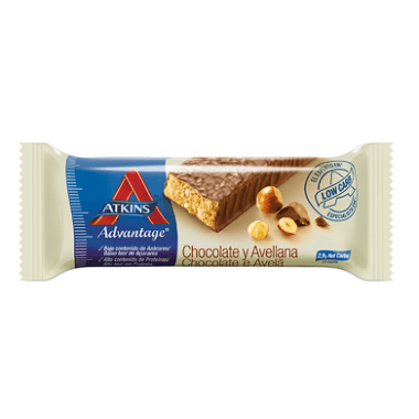 Atkins barrita chocolate y avellana
