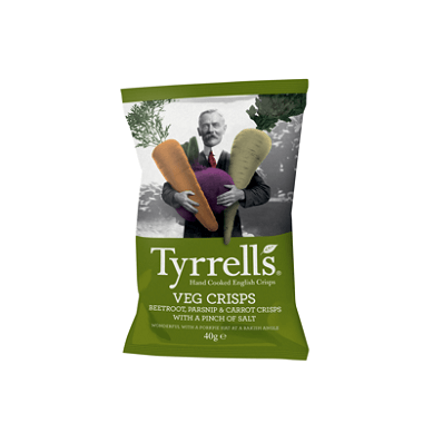 Tyrrells Tyrrells Vegetable 40g