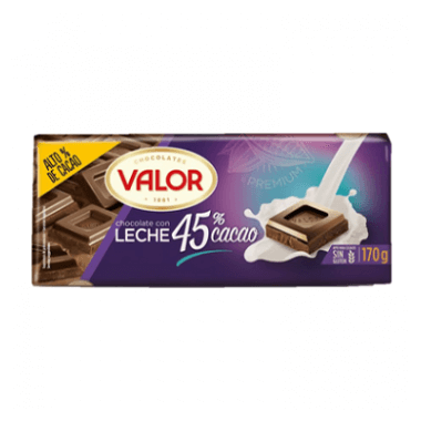 Chocolates Valor Chocolate con Leche 45% Cacao