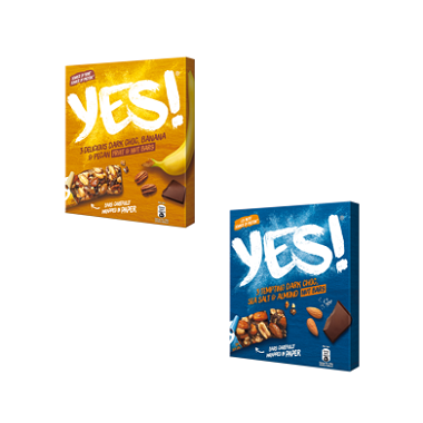 YES! Frutos Secos Chocolate y Sal | Plátano y Chocolate