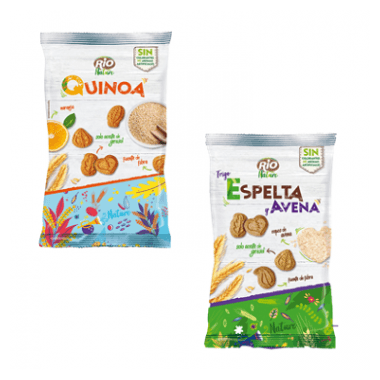 Arluy Rio Nature Mini Galletas Espelta y Avena | Quinoa