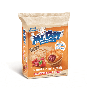 Mr. Day Muffin integrali con ripieno ai frutti rossi